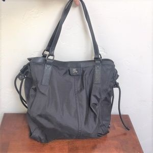 Large Black Nylon BURBERRY BUCKLEIGH Purse/Tote